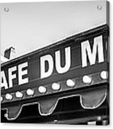 Cafe Du Monde Panoramic Picture Acrylic Print