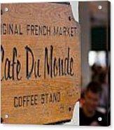 Cafe Du Monde Sign Acrylic Print