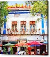 Cafe En Guanajuato Acrylic Print by Matthew Green