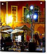 Cafe Evening Acrylic Print