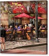 Cafe - Hoboken Nj - Cafe Trinity  Acrylic Print