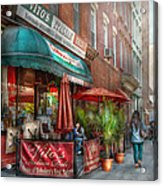 Cafe - Hoboken Nj - Vito's Italian Deli  Acrylic Print by Mike Savad