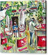 Cafe In Cazorla Acrylic Print