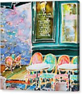 Cafe In Montmartre Acrylic Print