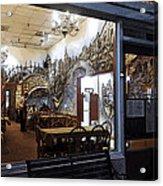 Cafe Italiano Night Usa Acrylic Print