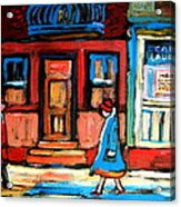 Cafe Laurier Montreal Acrylic Print