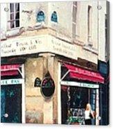 Cafe Le Barometre In Paris Acrylic Print