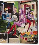 Cafe Marseille Acrylic Print