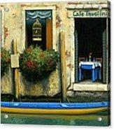 Cafe Tavolini Acrylic Print