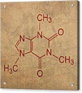 Caffeine Molecule Coffee Fanatic Humor Art Poster Acrylic Print
