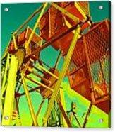 Caged Ferris Wheel Acrylic Print