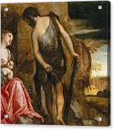 Cain As A Fugitive With His Family Acrylic Print