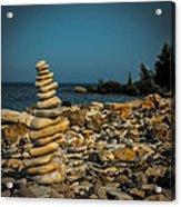 Cairn On Lake Michigan Acrylic Print