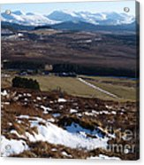 Cairngorms Mountains From Dorback Acrylic Print