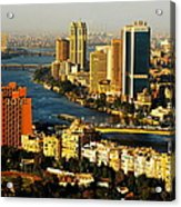 Cairo From Above Acrylic Print by Chaza Abou El Khair