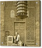 Cairo Funerary Or Sepuchral Mosque Acrylic Print by Emile Prisse d'Avennes