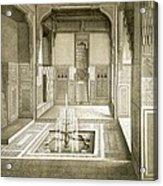 Cairo Mandarah Reception Room, Ground Acrylic Print