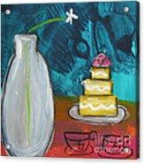 Cake And Tea For Two Acrylic Print
