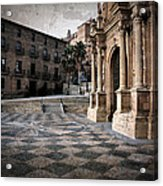 Calahorra Cathedral And Palace Acrylic Print