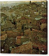 Calahorra Roofs From The Bell Tower Of Saint Andrew Church Acrylic Print