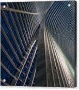 Calatrava Lines At The Blue Hour Acrylic Print