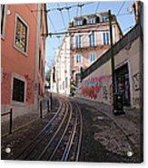Calcada Da Gloria Street In Lisbon Acrylic Print