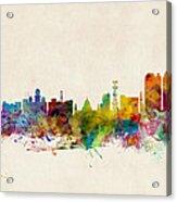 Calcutta India Skyline Acrylic Print