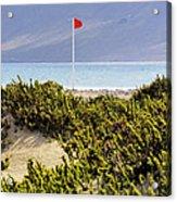 Caleta De Famara Beach Lanzarote Acrylic Print
