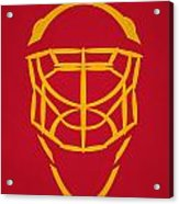 Calgary Flames Goalie Mask Acrylic Print