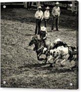 Calgary Stampede Black And White Acrylic Print