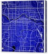 Calgary Street Map - Calgary Canada Road Map Art On Colored Back Acrylic Print