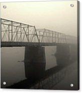 Calhoun Street Bridge In Fog Acrylic Print