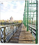 Calhoun Street Bridge Walkway Acrylic Print
