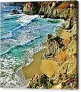 Californa Shore Acrylic Print by Benjamin Yeager