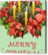 California Cactus Christmas Acrylic Print by Mary Helmreich