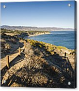 California Coastline From Point Dume Acrylic Print