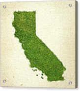 California Grass Map Acrylic Print by Aged Pixel