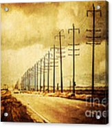 California Highway Acrylic Print by Pam Vick