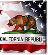 California Republic Within The United States Acrylic Print