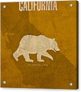 California State Facts Minimalist Movie Poster Art  Acrylic Print