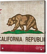 California State Flag Acrylic Print by Pixel Chimp
