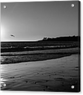 California Sunset In Black And White Acrylic Print