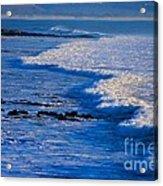 California Pismo Beach Waves Acrylic Print