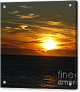 California Winter Sunset Acrylic Print