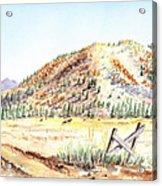 Californian Landscape Saint John Ranch Bald Mountain View Shasta County Acrylic Print