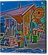 Calistoga Depot Acrylic Print