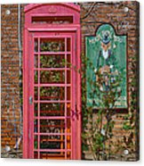 Call Me - Abandoned Phone Booth Acrylic Print