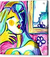 Call Me  Acrylic Print by Deborah jordan Sackett