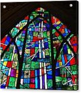 Callaway Gardens Chapel Stained Glass Acrylic Print