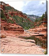 Calm Day At Slide Rock Acrylic Print